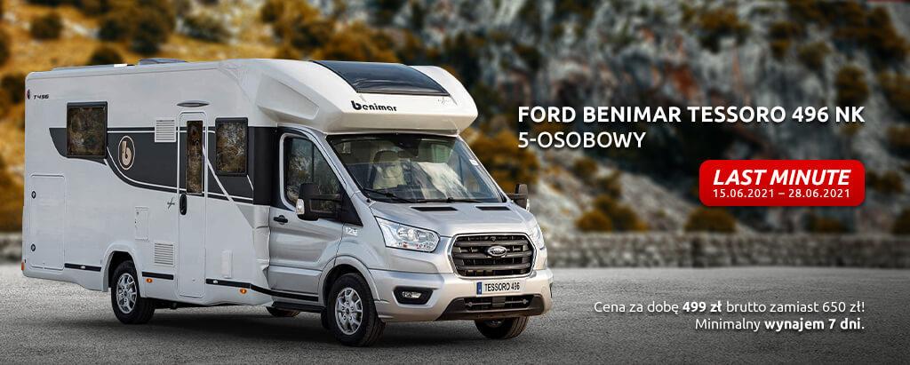 Etnacamp - kamper do wynajmu Ford Benimar Tessoro 496NK